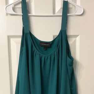 Lane Bryant Hunter Green Shell Top